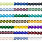 20 Little 4mm Round Czech Glass Druk Beads In Many Transparent Colors