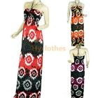 Strap New Womens Backless Summer Sundress Boho Printed Floral maxi dress D159