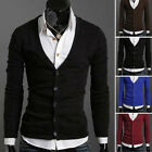 Top Quality Red V-neck Knitted Sweater Jumpers Cardigan For Men Gray Blue