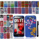 For LG Optimus G Pro E980 DIAMOND BLING CRYSTAL HARD Case Cover Phone + Pen