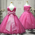 USM3D59A Fuchsia Formal Wedding Pageant Chritmas Party Girl Dress 1 to 13 Yrs