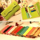 Womens Girls Faux Leather Bifold Card Holder Clutch Bag Wallet Purse Case Hot