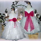USMD75 Fuchsia Formal Wedding Pageant Bridesmaid Flower Girls Dress Age 1 to 14