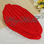 Indian Cap Pleated Head Wrap Turban Stretchy Band Hat Cloche Chemo Hijab G