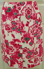 ETCETERA FLORAL PINK WHITE PANELED LINED SKIRT WILDFLOWER sz 0 / 4 NEW $135