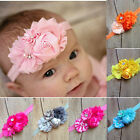 1pcs Baby Girl kids Infant Flower Rhinestone Headband Hair Accessories Band