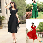 NEW GIRL'S VINTAGE MAXI CHIC CHIFFON LONG BALL PARTY IRREGULAR EVENING DRESS HOT