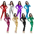 Metallic Bodysuit Adult Catsuit Female Superhero Costume Halloween Cosplay