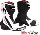 Richa DRIFT White / Black Sports Motorcycle Boots all sizes available+ FREE SOCK