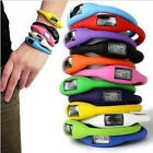 Attractive Digital Silicone Rubber Jelly Anion Ion Bracelet Wrist Watch  UK HF