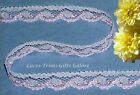 "10/20 Yards Pink Lace Trim 1/2"" Scalloped Lingerie M63V Buy More-Ship No Charge"