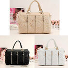 Top Sale Celebrity PU Leather Ladies Lace Black Beige Tote Shoulder Bag
