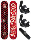 TOP! AIRTRACKS SNOWBOARD SET:BOOM+BINDUNG RAGE FASTEC 180+SB BAG+LEASH+PAD! NEU!