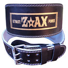 """Leather Weight Lifting Belt Body Building Gym Training Back Support Belt 6"""" WIDE"""