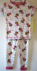 New Toddler Girls Size 4 Dora Summer Pajamas Pjs 100% Cotton Sleepwear Sets