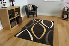 New Small Medium large Brown Rug Easy Clean Floral Soft Touch Modern Rugs Cheap