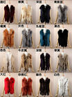 Variety Color Women Real Fur Collar Rabbit Fur Vest Gilet Waistcoat variety Size