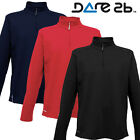 Dare2be Dare to Be  Fleece Distribute 1/2 Zip Mens New L/Sleeve Core Midlayer