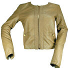 Fitted Cropped Quilted Womens Faux Leather Jacket Size  Womens
