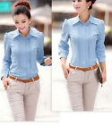 New Stylish  Peter Pan Doll Collar Shirt Attractive Blouse Tops 094 CA HF