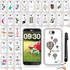 For LG Optimus L90 D405 D415 Art Design TPU SILICONE Case Phone Cover + Pen