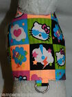 DOG CAT FERRET Custom Travel Harness~HELLO KITTY Rave Neon Party Electric Colors