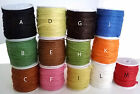 LOT 5M 10M FICELLE JUTE FICELLE NATUREL COLORIS AU CHOIX SCRAPBOOKING 3 PLIS 2mm
