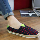 NEW CHIC Men's Canvas Casual Lace Slip On Loafer Shoes Moccasins Driving Shoes