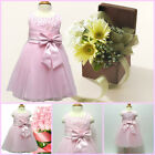 Infant Toddler Pinks Christening Flower Girls Dresses SIZE 0-3-6-9-12-18 Months