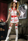 Halloween Psycho Zombie Evil Killer Nurse Fancy Dress Costume - 8 10 12 14 16