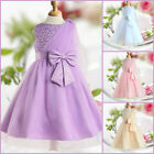 PU8910 Purple Communion Christmas Wedding Flower Girls Dresses SIZE AGE 2 to 12Y