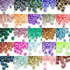 Huge Lot of 2,700 Glass Miyuki 4mm Two Tone Color Lined 5/0 Triangle Seed Beads
