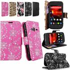 For ZTE Concord II 2 Z730 T-mobile Pu Leather Wallet Card Pocket Stand New Case