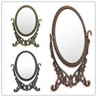 Portable Oval Shape Makeup Mirror Rose With Crystals Beauty Make up K1976