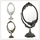 Portable Oval Shape Makeup Mirror with Stone Decoration K1975