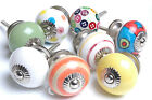 Funky Style Multi-Coloured Ceramic Cupboard Knobs Kitchen Door Knobs Drawers