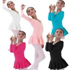 Girls Gymnastics Dancing Dress Kids 3-14Y Ballet Leotards Tutus Dancewear Skirt