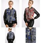 CLASSIC TRICOT Check & Paisley Print Bomber Jacket Blue / Red 143.