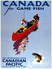 7948.Canadian pacific.canada for game fish.men fishing.POSTER.art wall decor