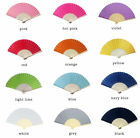 Colored Silk Fans 25, 50, 75, 100, 150 or 200 Wedding Favors - Free US Shipping