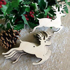 Wooden Stag Hanging Christmas Tree Blank Decorations Craft Shapes Gift Tags