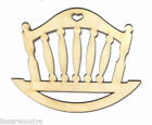 Baby Cradle Unfinished Wood Shape Cut Out BC8753 Crafts Lindahl Woodcrafts