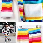 Hot Baby Kids Girls Winter Warm Rainbow Leggings Pants Underwear Trousers 2-6Y