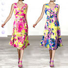 NEW Sz Ladies Summer V Neck Casual Fitted Wrapped Midi Floral Dress