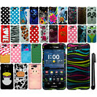 For Kyocera Hydro Elite C6750 Design PATTERN HARD Case Phone Cover + Pen