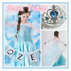 Girls Kids Elsa School Birthday Party dress costume Princess Anna Dresses SZ 3-8