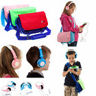 Messenger Shoulder Storage Bag with Kids Headphones for vTech InnoTab 3 Plus