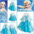 U Frozen Princess Elsa Anna Queen Costume Dress Christmas Party Dresses AGE 3-8Y