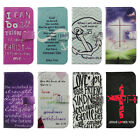 Jesus Bible Verse Quote Wallet Flip PU Leather Case For Samsung GalaxyS3/4/5/7