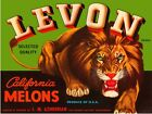 8814.Levon brand.california melons.lion.POSTER.art wall decor graphic art